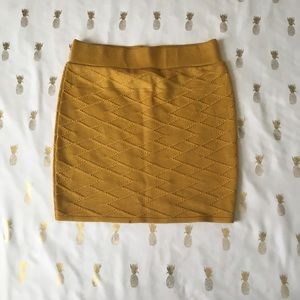 A'Gaci Mustard Yellow Fitted Skirt